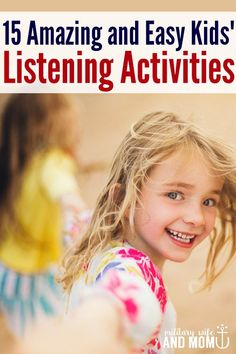 LOVE these awesome listening activities for kids! Great way to build listening skills! Positive parenting tips to make listening skills fun again! Listening Activities For Kids, Listening Games, Active Listening, Listening Skills, Toddler Activities, Teaching Kids, Kids Learning, Easy Listening, Learning Spanish