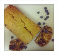 A slice of fruit.~ blueberry oat bread!
