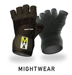 Weight Lifting Crossfit and Fitness Gloves for Men  Women from MightWear offer Durable Double Cushion Padding  Adjustable Wrist Wrap Support for Protection Grip and Comfort Small *** For more information, visit image link.