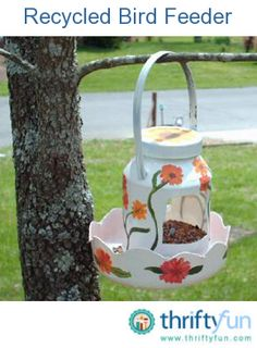 This guide contains recycled bird feeder ideas. There are many frugal ways to set up a feeding station for the flying visitors to your yard.