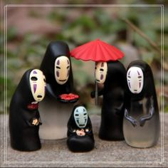 "Universe of goods - Buy No Face Cute Figures Toys Studio Ghibli Miyazaki Hayao Spirited Away No Face Resin Action Figure Collection Model Toy"" for only USD. Miyazaki, Totoro, Clay Figures, Anime Figures, Spirited Away Ghost, Biscuit, Miniature Figurines, Fairy Garden Accessories, Miniature Fairy Gardens"