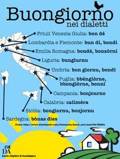 Buongiorno! Italian Grammar, Italian Vocabulary, Italian Phrases, Italian Words, Italian Language, Italian Courses, Learn To Speak Italian, Italian Colors, All About Italy