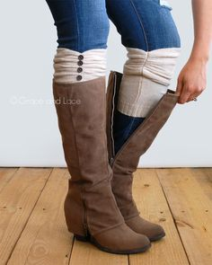 Ruched Boot Cuffs