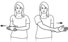 Self Range of Motion Exercises for Shoulders-Arms-Wrists-Fingers Shoulder Range Of Motion, Shoulder Stretches, Activities Of Daily Living, Shoulder Arms, Occupational Therapy, Arthritis, Fingers, Anti Aging, Health And Wellness