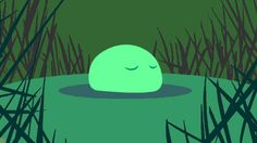 New trending GIF tagged green blob via Giphy...