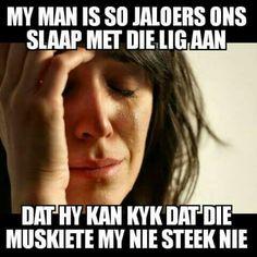 Jaloerse man... #Afrikaans  humor