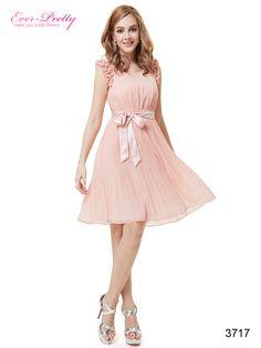 Square Neckline Baby Pink Flowers Chiffon Ruffles Cocktail Dress