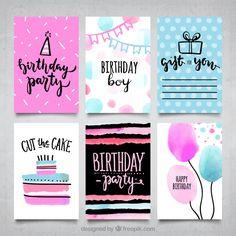 Ideas for birthday card diy calligraphy - Diy Birthday Cards Creative Birthday Cards, Handmade Birthday Cards, Diy Birthday, Happy Birthday Cards, Birthday Greetings, Watercolor Birthday Cards, Birthday Card Drawing, Cumpleaños Diy, Bday Cards