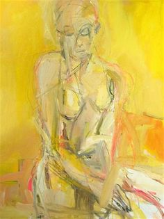 Kate Long Artist Charleston, South Carolina; Seated Woman  18X24  oil, charcoal + pastel on canvas