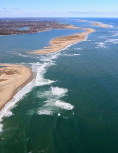 The three breaks at Chatham's outer beach by Chris Seufert. The newest break from Nemo storm Feb 2013. Cape Cod.