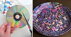 Amazing DIY Ways to Recycle Your Old CDs is part of Upcycled Crafts Reuse Old Cds - before dumping out all of your old CDs into trash can, get inspiration from these amazing DIY ideas to recycle your old CDs into something new and cool Cd Crafts, Diy And Crafts Sewing, Diy Crafts Videos, Crafts For Teens, Craft Tutorials, Crafts To Sell, Diy Projects, Upcycled Crafts, Cd Diy