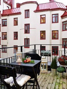 kind of like this but more girly.  apartment balcony in Sweden