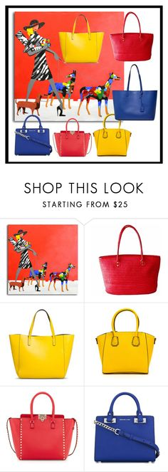 """""""She Does it All!"""" by sumoftheparts ❤ liked on Polyvore featuring Merona, Valentino, MICHAEL Michael Kors and Yves Saint Laurent"""