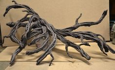Diy fake wood. Pvc, vinyl, grout.
