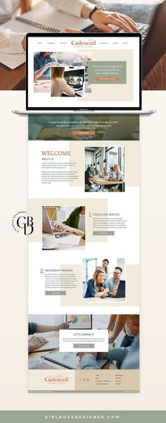 design Website Services, Website Themes, Website Ideas, Website Design Layout, Website Design Inspiration, Custom Website, Web Design Tutorials, Business Branding, Entrepreneur