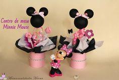 Manualidades Herme: Como hacer centros de mesa de Minnie Mouse