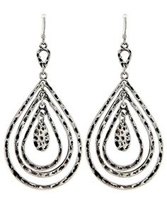 Teardrop Dangle Earrings Z6 Graduated Size Hammered Silver Tone Recyclebabe Earrings http://www.amazon.com/dp/B0163AP7US/ref=cm_sw_r_pi_dp_Y0Sdwb131ARXN