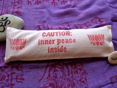 Eye pillow with lavender and flax seed for by blissfulturtle, $9.00
