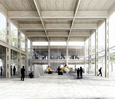 EFFEKT wins purchase in the open competition for Aarhus School of Architecture Wood Architecture, Architecture Visualization, School Architecture, Architecture Graphics, Aarhus, Interior Design Videos, Interior Rendering, Modern Interior, Photoshop Rendering