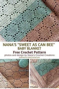 Easy Honeycomb Baby Blanket Free Crochet Pattern - Knit And Crochet Daily - Eas. - Easy Honeycomb Baby Blanket Free Crochet Pattern – Knit And Crochet Daily – Easy Honeycomb Bab - Crochet Diy, Crochet Motifs, Easy Crochet Patterns, Learn To Crochet, Baby Patterns, Free Crochet Patterns For Beginners, Crochet Boarders, Easy Crochet Stitches, Crochet Afghans