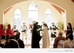 Someone got a photo from the future...of my wedding.