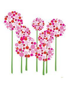 Pink Allium Art Print by Avalisa at Art.com