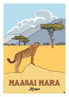 The African Journey Collection Archives - duncan butchart nature works Dorm Posters, Art Deco Posters, Poster Prints, Vintage Safari, Retro Vintage, Travel Collage, Nature Words, Nature Posters, Art Graphique