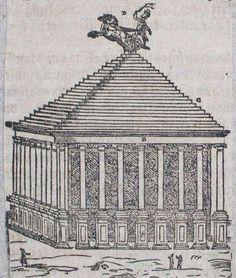 Das Mausoleum von Halikarnassos in Bodrum in der Türkei British Museum, London, Louvre, Woodblock Print, Sculptures, Big Ben London