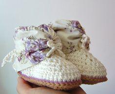 CROCHET PATTERN Baby Summer Booties easy Crochet by matildasmeadow