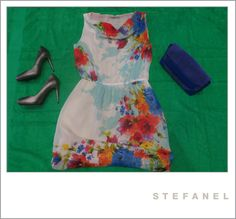 #Dress / Abito #fiori - #Stefanel Original price: 169€ #Outlet Price: 108€  EXTRASCONTI PRICE: 54€  #Heels /#Decoltè - Stefanel Original price: 139€ Outlet Price: 90€  EXTRASCONTI PRICE: 27€  #Handbag / #Pochette blue - Stefanel Original price: 129€ Outlet Price: 82€  EXTRASCONTI PRICE: 24.60€  Beach towel / Telo mare verde - Stefanel Original price: 65€ Outlet Price: 39€  EXTRASCONTI PRICE: 11.70€ Palmanova Outlet Village - www.palmanovaoutlet.it