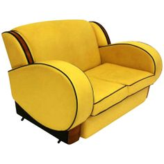 Art Deco Two Seater Sofa | From a unique collection of antique and modern sofas at http://www.1stdibs.com/furniture/seating/sofas/