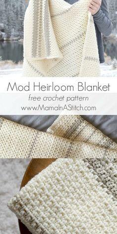 Mod Heirloom Crochet Blanket Pattern.