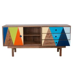 Recycled Timber Buffet Orange