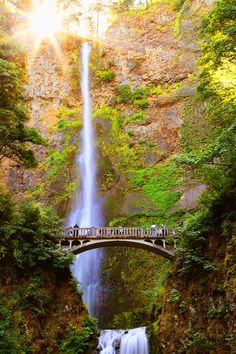 Multnomah Falls in Oregon . . . been there many times and it's fun to walk the trail to the top. Gorgeous view!