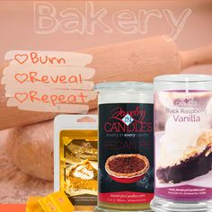 Match your favorite holiday treat to our bakery selection! We have a scent for everyone! #bakery #sweets #holidaydesserts #JIC #burn #reveal #repeat