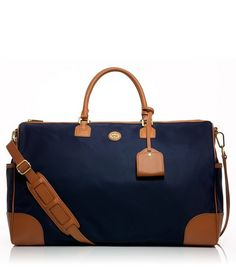 Tory Burch Robinson nylon duffel for when I jet off to Paris.