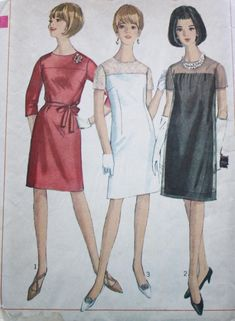 Simplicity 6847 /1960s Yoked Dress Vintage Sewing Pattern / High Round Neckline / Bust 41 /Plus Size Patterns by BluetreeSewingStudio on Etsy