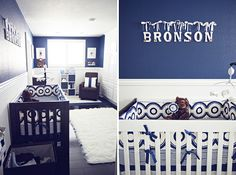 Navy/white nursery.