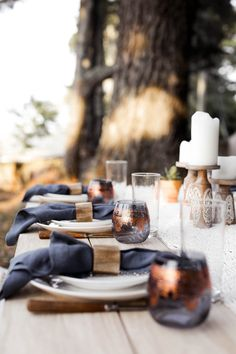 bohemian outdoor dining area