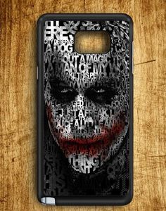 Joker Quotes Typhography Samsung Galaxy Note Edge Case