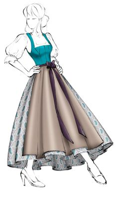 Models, Cinderella, Disney Princess, Disney Characters, Dresses, Sewing, Dirndl Blouse, Cloth Patterns, Hand Sewn
