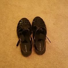 Black jelly sandals Black jelly sandals. Brand new with tags. Shoes Sandals