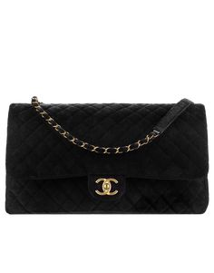 6e18ebe2053bbc Flap bag, velvet & gold-tone metal-black - CHANEL #Chanelhandbags