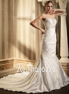 mermaid wedding dresses in satin.