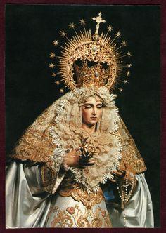signorcasaubon:    Nuestra Senora de la Aurora (Our Lady of the Aurora), primary patron of the Hermandad de la Resurreccion, Seville, Spain