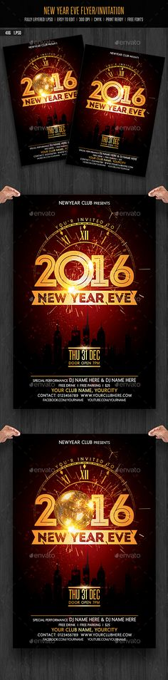 New Years Eve Free Psd Flyer Template  HttpFreepsdflyerCom