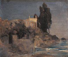 Arnold Böcklin - Villa by the Sea, 1864, oil on canvas (62x74cm)