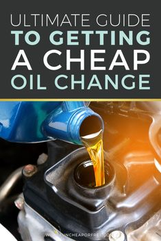 Time for an oil change? Keep up with car maintenance without hurting the budget! Fun Cheap or Free is here with our ultimate guide to getting a cheap oil change, and you will reap the savings rewards time and time again.