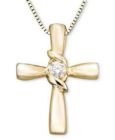 Sirena Diamond Cross Pendant in Yellow or White Gold ct. Gold Choker Necklace, Diamond Solitaire Necklace, Watch Necklace, Coin Necklace, Pendant Necklace, Diamond Pendant, Earrings, Cross Jewelry, Cross Necklaces