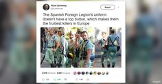 El Twitter guiri acaba de descubrir la Legión Española y cree que es lo más gay que ha existido nunca